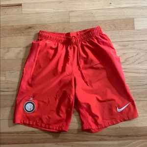 Dri fit red soccer shorts Nike